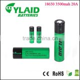 Free sample in stock cylaid 18650 3500mAh aa rechargeable battery for e cigarette kuwait & vape pen vaporizer