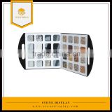 new style stone display box, quartz stone sample display case with logo printed