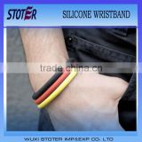 silicone bracelet in belgium flag colour for 2014 brazil world cup