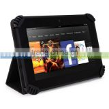 Black Universal Book Style Cover Case with Built-in Stand [Accord Series] For Song S1 Tablet