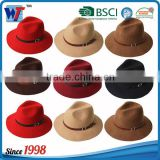 Wholesale Lady fedora Wool Felt Wide Brim Black Fedora hats for women