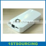 Mobile Wifi Power Bank 6000mah Dual USB 3G Wifi Router,External Battery Charger 6000 Power Bank for Cell Phone