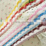 Wholesale Cheap 25mm African Crochet Cotton Guipure Lace Fabric Lace Ribbon Trim for Home Garment Accessories Decoration