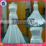 beautiful strapless patterned satin lining fabric mermaid mother of the groom dresses corset two-piece wedding gown