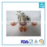 300ml glass teapot with stainless steel infuser