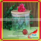 cheap small glass jam jar made in china heat-resistant glass jar wholesale glass cookie jar