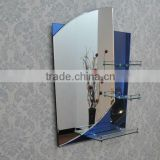 2015 new design shelf 2 face framed wall mounted silver mirror artistic craftwork mirrors bathroom bedroom jewelry mirrors