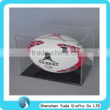 acrylic rugby ball display case,acrylic rugby display box,rugby ball display stand
