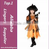 Halloween Christmas Costumes Kids Girls Children Fly 1 Witch Dress +1 Hat Cap Costume Bow-knot Party Cosplay Performance Clothes