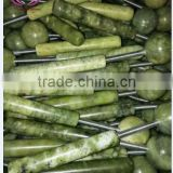 natural gemstone physical therapy healing stone hot stone jade massager facial massager jade facial roller massager