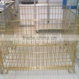 Zinc plating wire container/cage (Yellow colour)