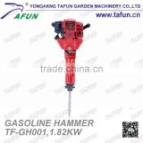 52cc portable gasoline rock drill jack hammer for breaking