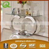 F286 tempered glass modern console table