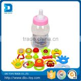 Hot selling 12PCS Plastic Mini Many Kinds Hand Bells Sale Baby Bell Toy Funny Shaking Bell