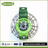 made in china heavy duty hanging basket bracket fat ball metal wire round bird feeder cage with stand