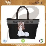 12 oz dyed canvas tote bag with polyester lining & with PU padded rope handle & bottom