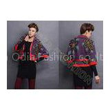 Autumn Intarsia Knit Women Poncho Sweater Cardigan Coat In Flower Leaf Pattern With Full Zip Up