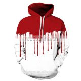 white red paint skeleton creative 3D pinted hoodies/ask sky unisex 3D printed sweatshirt hoodies/hot sell 3D baseball jacket