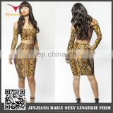 Special design good quality gold backless bandage dress