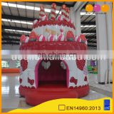 AOQI 2017 new style happy birthday cake air bouncer party inflatable bouncer for advertising
