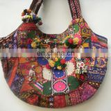 Tribal Chic Ethnic Embroidered SHOULDER BAG Kuchi Gypsy Boho Hippie banjara thai