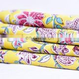 Indian Latest Hand Block Cotton Fabric Crafting Dressmaking Sewing Fabric By Mete