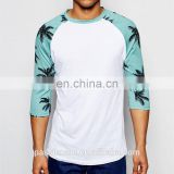 Soft-touch custom design your own long sleeve t shirt with palm print