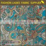 Onway Textile China top sale paisley printed bandage rayon challis velvet fabric
