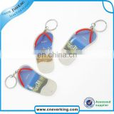Custom blue rose acrylic keychain for promotion