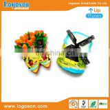 Custom personalized promotion souvenir 3d windmill flower resin fridge magnet