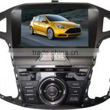 car multimedia navigation system for Ford Focus 2012 with GPS/Bluetooth/Radio/SWC/Virtual 6CD/3G internet/ATV/iPod/DVR