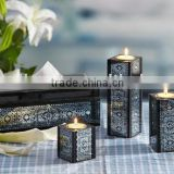 2016 new pattern wedding decorative glass candle holder/candle holder/glass candle holder