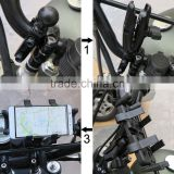 hot selling 360 degree rotation adjustable bike/bicycle/motorcycle mount holder for mobile phone and GPS