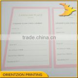 Quality Business Card, Luggage Claim Check Card, Registration Card, China Printing Factory.