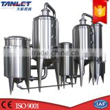 Tanlet Patent food beverage herbals pharmaceutical industrial machinery High Efficient Double Effect vacuum evaporator