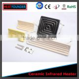 LONG WORKING LIFE LOW PRICE HOT SALE CE CERTIFICATION CUSTOMIZED INFRARED CERAMIC HEATER PLATE WITH THERMOCOPULE                                                                                         Most Popular