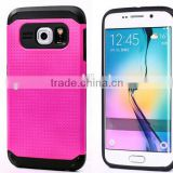 2015 China Factory Newest Colorful Tough Slim Armor Case Shockproof for Samsung Galaxy S6 edge case Cover back case