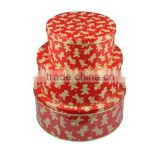 Food-grade round tin box set cake tin cans set wholesale