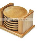 Bamboo cup mat, Wood coaster holder