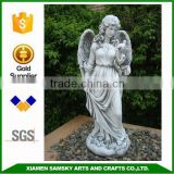 life size angel statue peaceful angel with a bird