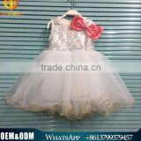 Wholesale new stylish boutique golden sequin bridesmaid baby girls dress for Christmas