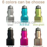 Colorful Micro Auto Universal Dual 2 Port USB Car Charger For iPhone iPad iPod 3.1A Mini Car Charger Adapter / Cigar Socket
