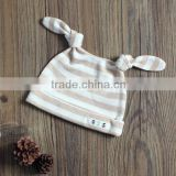 thin organic cotton baby hats baby beanie with long ear design for newborn baby