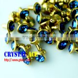 Wholesale Open end press rhinestone rivet, decorative rhinestone strass rivet, leather rhinestone rivets for decoration