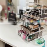 2016 clear wholesale acrylic makeup organizer with drawers                                                                         Quality Choice