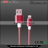 Original high quality mfi custom logo colorful nylon braide USB data cable for iphone 5 mfi charger cable mfi certified