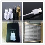 OEM black white gold logo printing paper box with micro cable 5v 1.5a eu wholesale usb wall charger for iphone