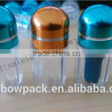 clear plastic sex pill bottle /Rhino 9000 empty gelatin capsule bottle with metal cap/plastic capsule bullet                                                                                                         Supplier's Choice