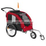luxury large bicycle pet trailer jogger with reflectors pet product