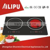 Dual induction cooker&infrared cooker/dual voltage electric cooktop/low price electric cooking appliances